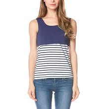 Load image into Gallery viewer, Maternity Stripe Patchwork T-Shirt