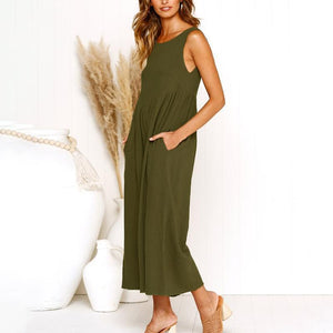 Maternity Plain Loose Jumpsuit