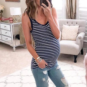 Maternity Stripe Tank Top