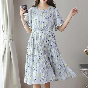 New Maternity Chiffon Pleated Dress
