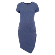 Load image into Gallery viewer, Maternity Short Sleeve Fitted Terry Dress