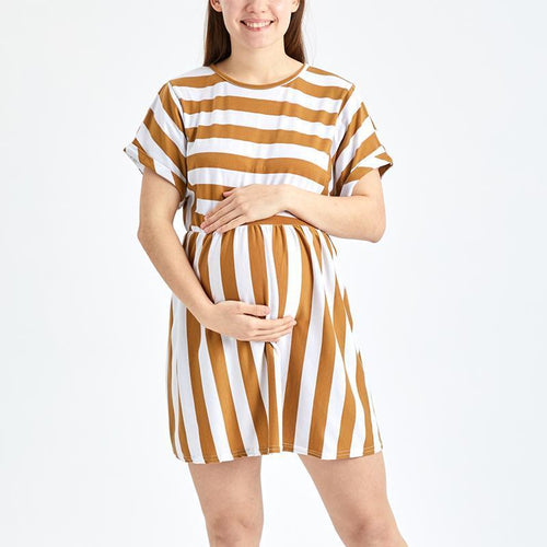 Maternity  Short Sleeve Vacation Casual Dresses