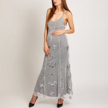 Load image into Gallery viewer, Maternity Spaghetti Strap Lace-Up Glitter Plain Evening Dress