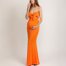 Load image into Gallery viewer, Maternity Strapless Evening Dress