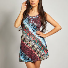 Load image into Gallery viewer, Maternity Spaghetti Strap  Print Shift Dress