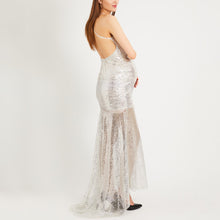 Load image into Gallery viewer, Maternity V-Neck Strapless Dress With Sequined Back