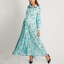 Load image into Gallery viewer, Maternity Floral Print Long Sleeves Maxi Dress