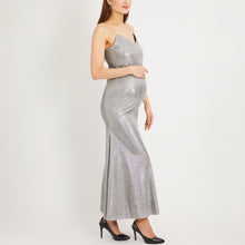Load image into Gallery viewer, Maternity Spaghetti Strap  Plain Evening Dresses