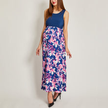 Load image into Gallery viewer, Maternity Flower Prints Sleeveless Matching Dress