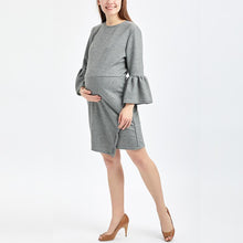 Load image into Gallery viewer, Maternity Fashion Lantern Sleeve Irregular Bodycon Dress
