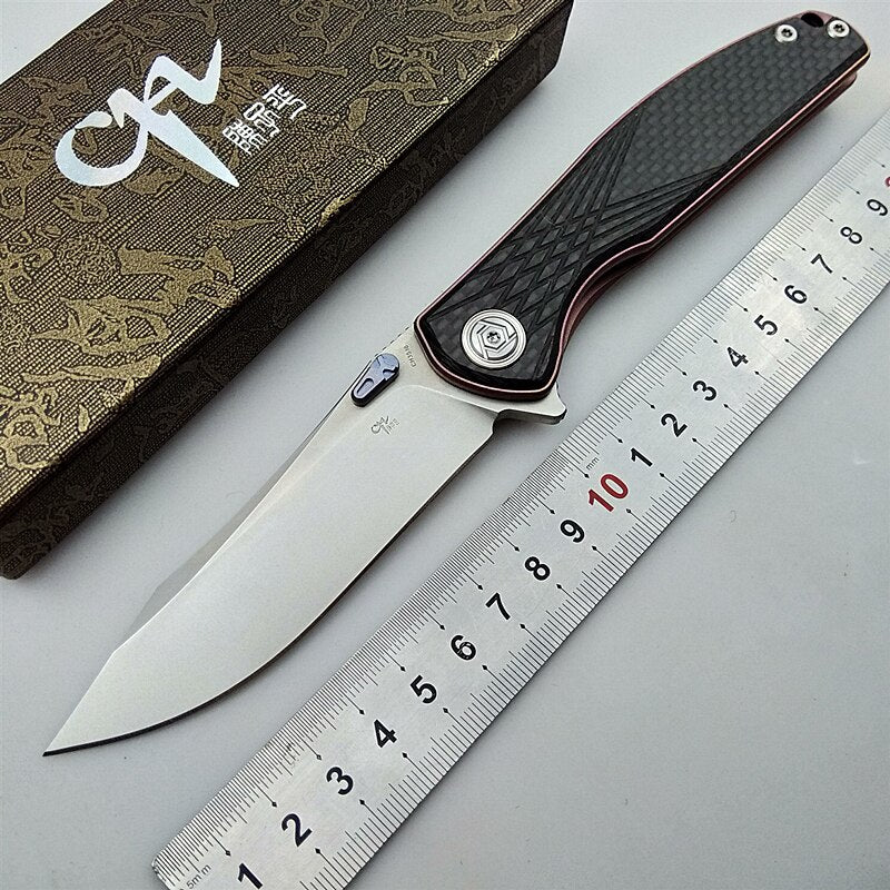CH CH3516 original folding knife S35VN blade titanium carbon fiber handle tactical camping hunting pocket knives flipper EDC knife