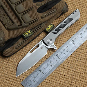 CH Butcher 2 Flipper folding knife S35VN Blade ball bearing Titanium handle outdoor gear camp hunt survival Knives EDC tools