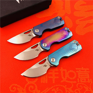 CH CH3515 Flipper folding knife s35vn Blade Titanium handle outdoor camping survive hunting pocket fruit kitchen Knives EDC tools