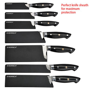 EVERRICH New Professional Chef Knife Set Damascus Fishbone Pattern Knife Chef Knives
