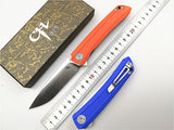 CH3002-G10 Folding Knife D2 Blade G10 Handle Pocket EDC Ball Bearing Utility Outdoor Camping Tactical Knife