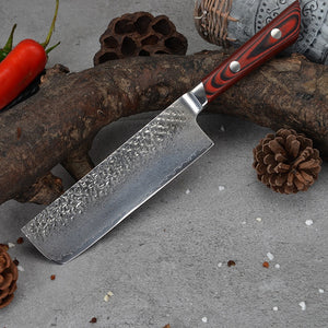 EVERRICH Damascus Steel Knife 7 Inch High Carbon 67 Layers DV10 Damascus Kitchen Knives
