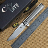 CH3513 Folding Knife M390 Blade Tactical Ball Bearing Washer Titanium Outdoor survival Pocket Knives