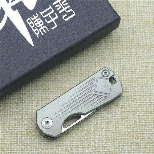 CH CH003 key chain folding knife AUS-8 blade ball bearing TC4 titanium alloy handle camping fruit pocket outdoor EDC tool