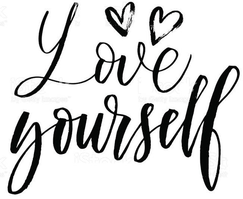 amour lingerie love yourself quote poster