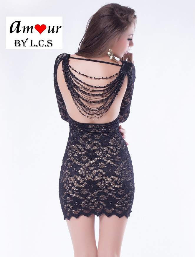[sexy chains lace dress] - AMOUR Lingerie