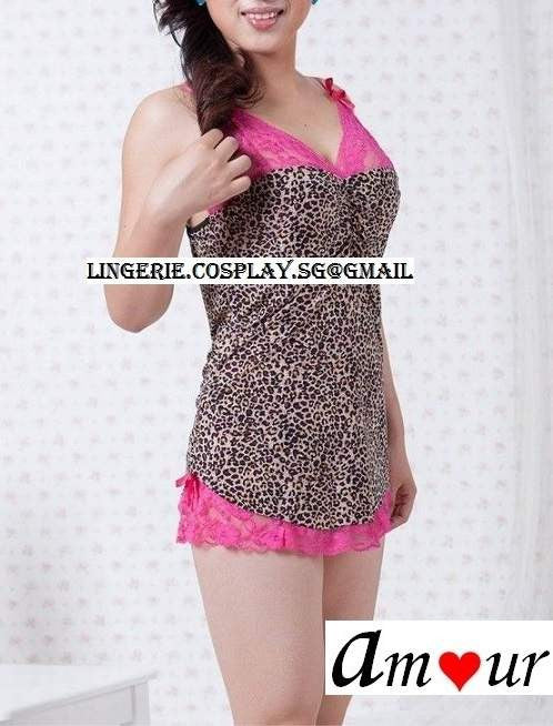 [sexy leopard babydoll lingerie] - AMOUR Lingerie