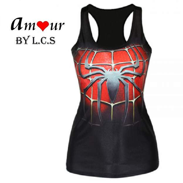 [spiderman racerback tank top] - AMOUR Lingerie