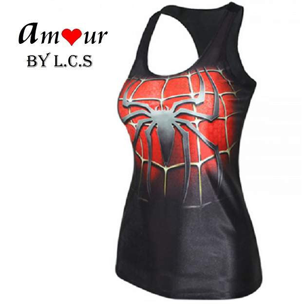 [spiderman yoga tank top] - AMOUR Lingerie