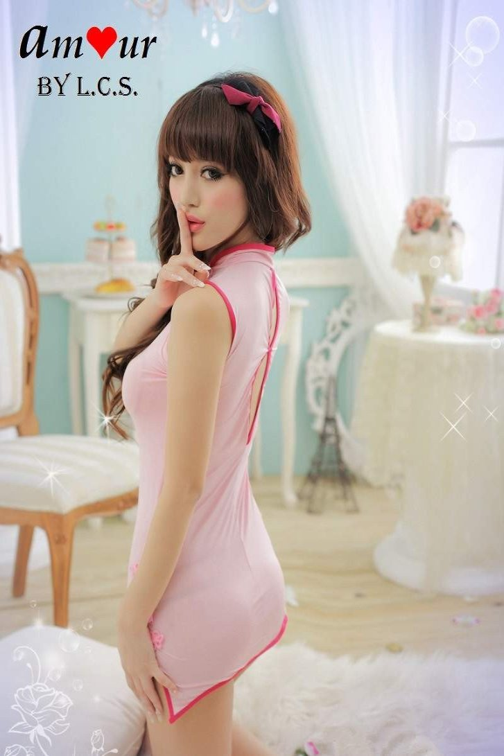 Baby Pink Lace Sexy Cheongsam Babydoll – AMOUR Lingerie (Amour by LCS) d6b146de0