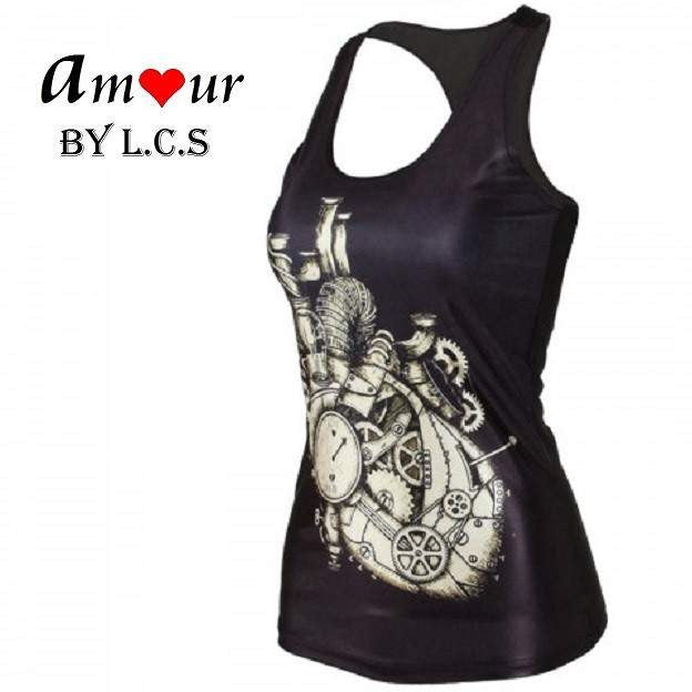 [compression racerback top] - AMOUR Lingerie