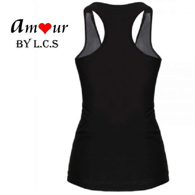 [racerback tank top back] - AMOUR Lingerie