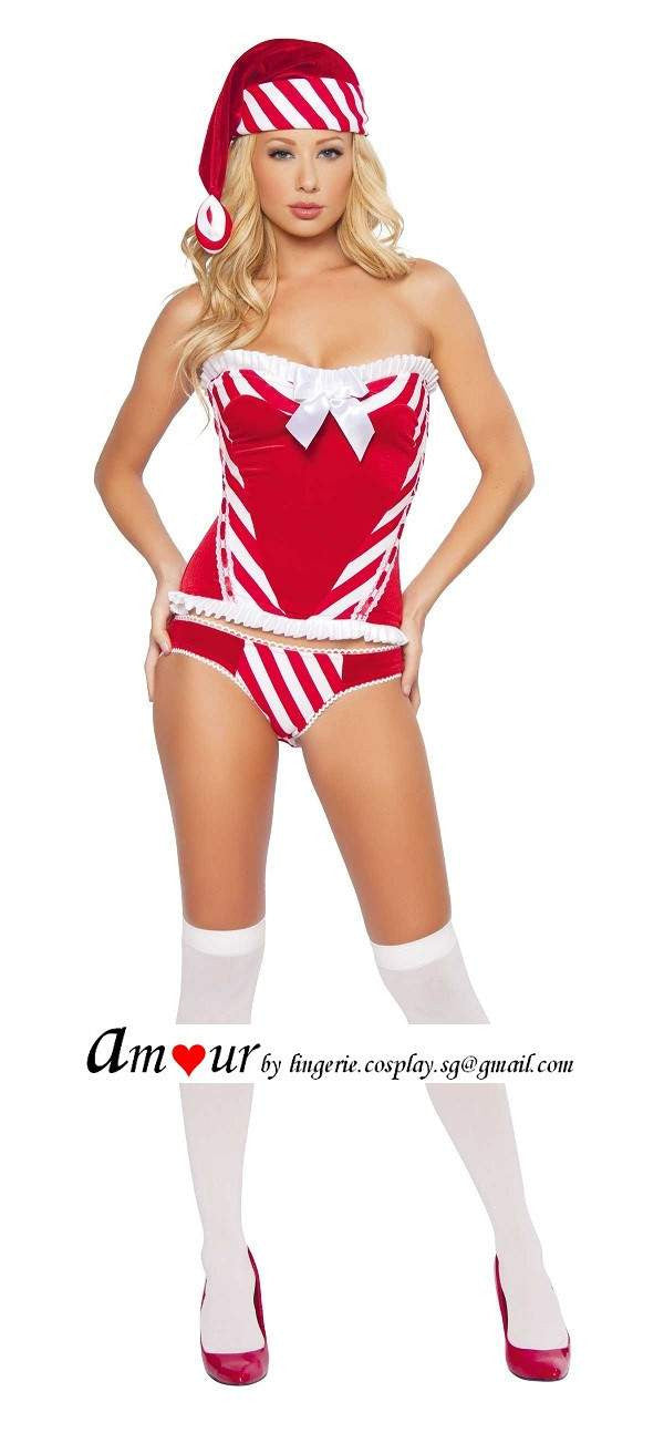 [sexy christmas teddy lingerie] - AMOUR Lingerie