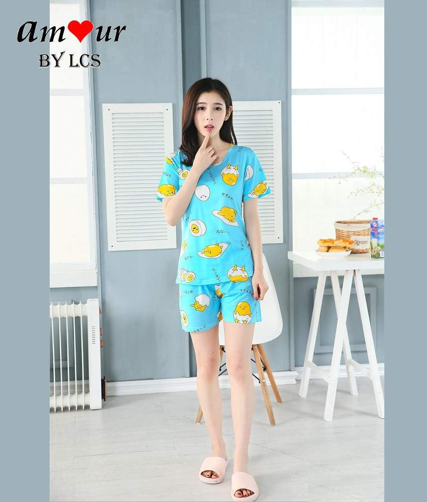 gudetama print cotton pyjamas