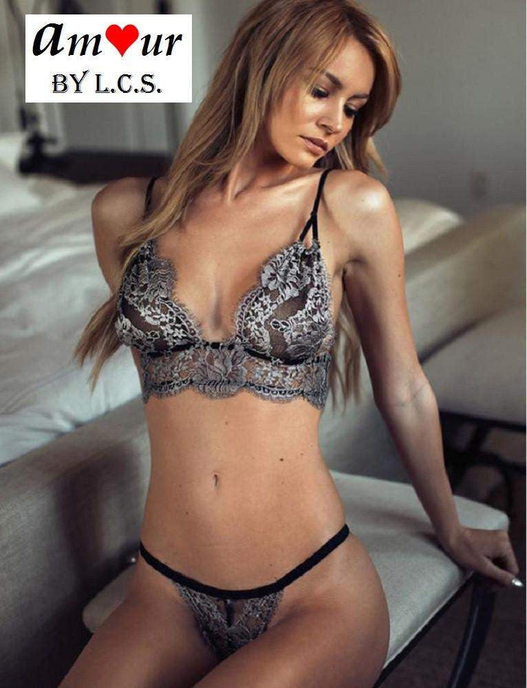 erotic lacy bra panty set