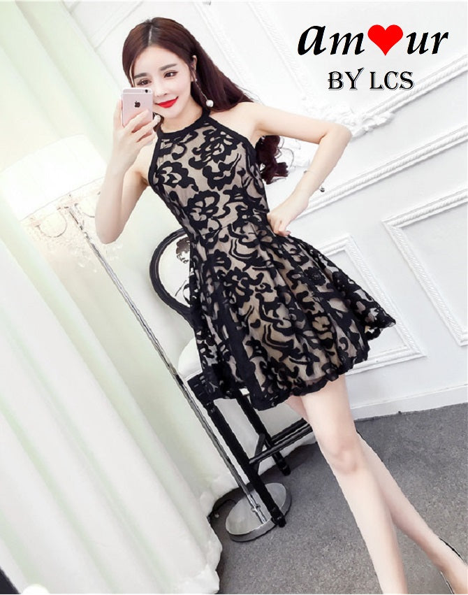[attractive lace skater dress] - AMOUR Lingerie