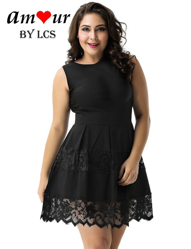 52285521d3 Sweet Pleated Black Lace Skater Dress – AMOUR Lingerie (Amour by LCS)