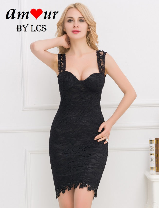 1b23da98074c39 Sleeveless Lace Bodycon Clubbing Party Pencil Dress – AMOUR Lingerie ...