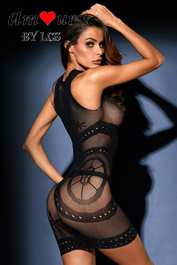 [black sheer lace bodystocking] - AMOUR Lingerie