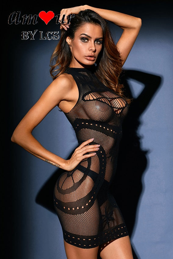 [black see through chemise] - AMOUR Lingerie