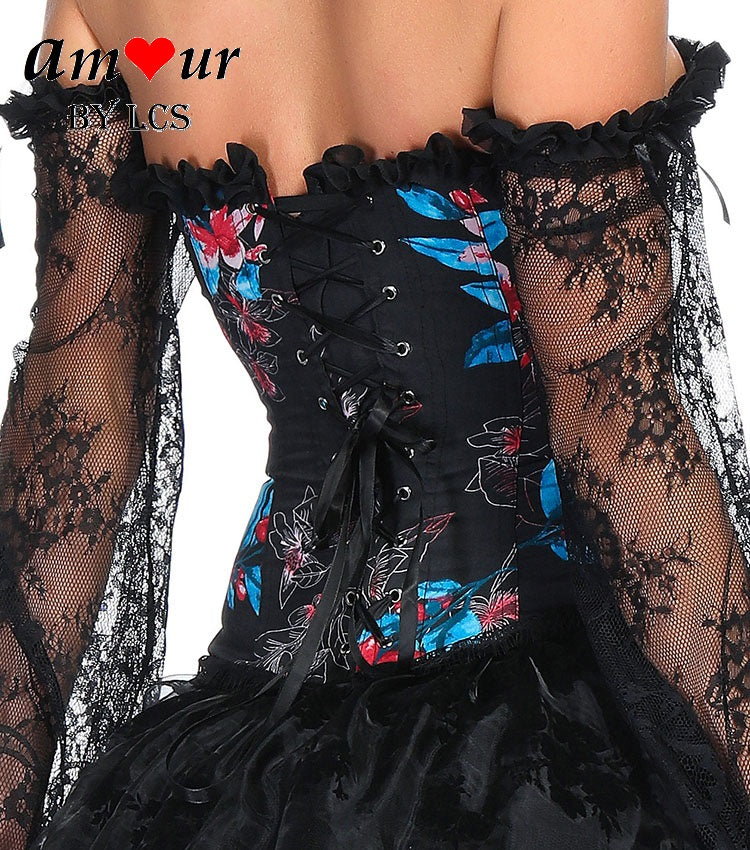 Courting Flowers Corset & High Low Theatrical Dress