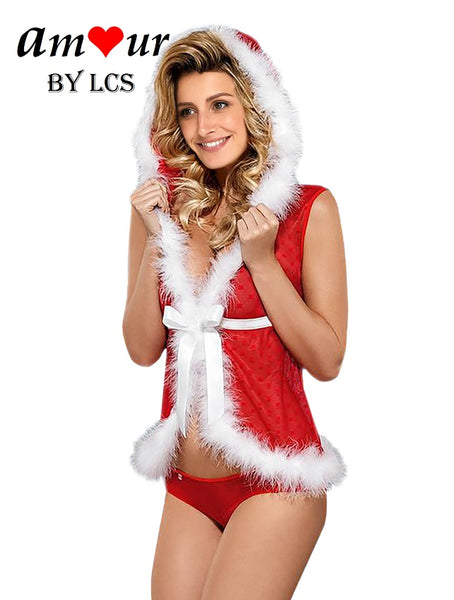 [sexy christmas babydoll costume] - AMOUR Lingerie