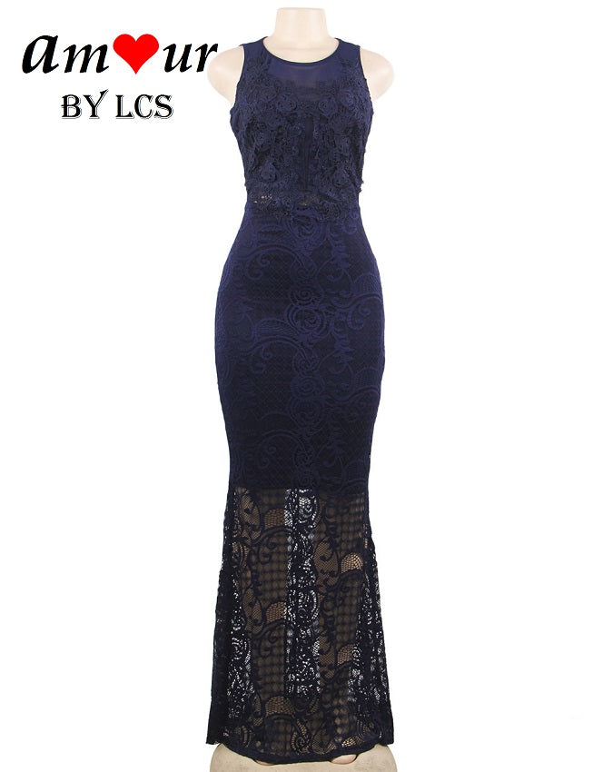 Enchanting Guipure Lace Evening Gown