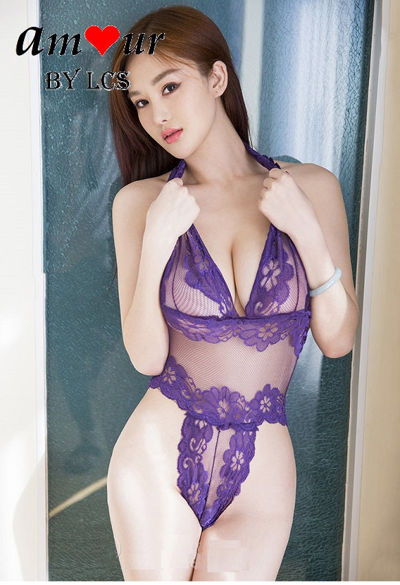 [sexy purple teddy lingerie] - AMOUR Lingerie