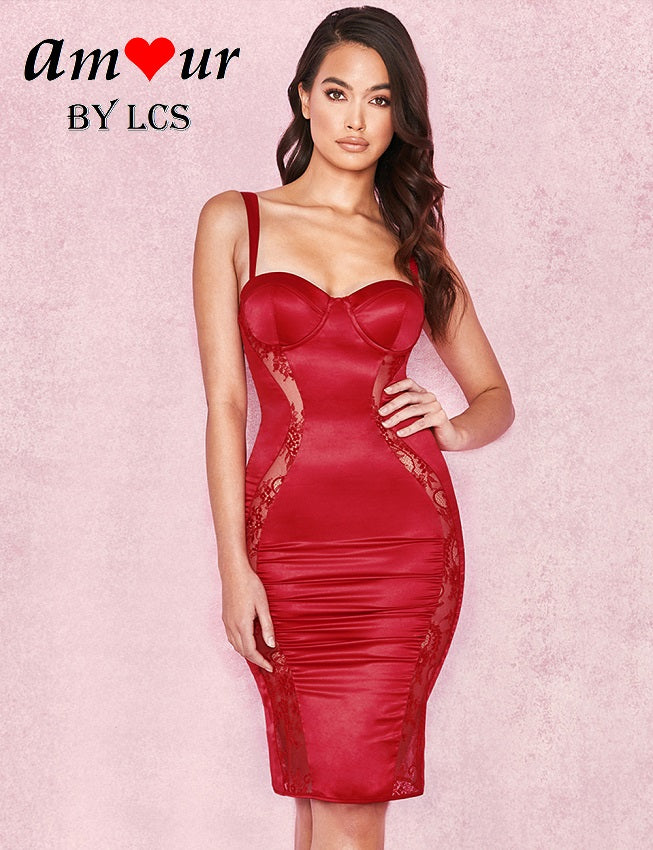 [red sexy clubbing dress] - AMOUR Lingerie