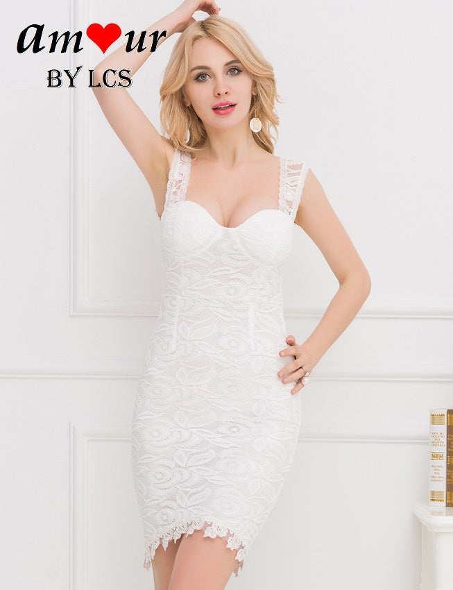 white lace clubbing party dress