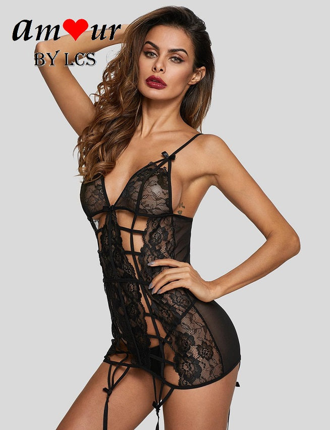 Sexy & Provocative Caged Style Babydoll