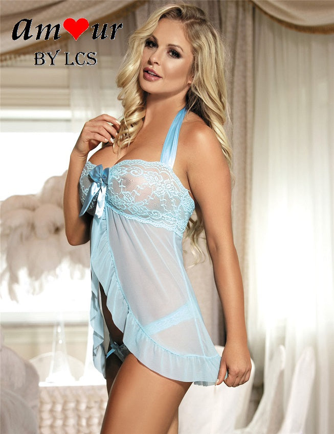 [sexy open front babydoll] - AMOUR Lingerie