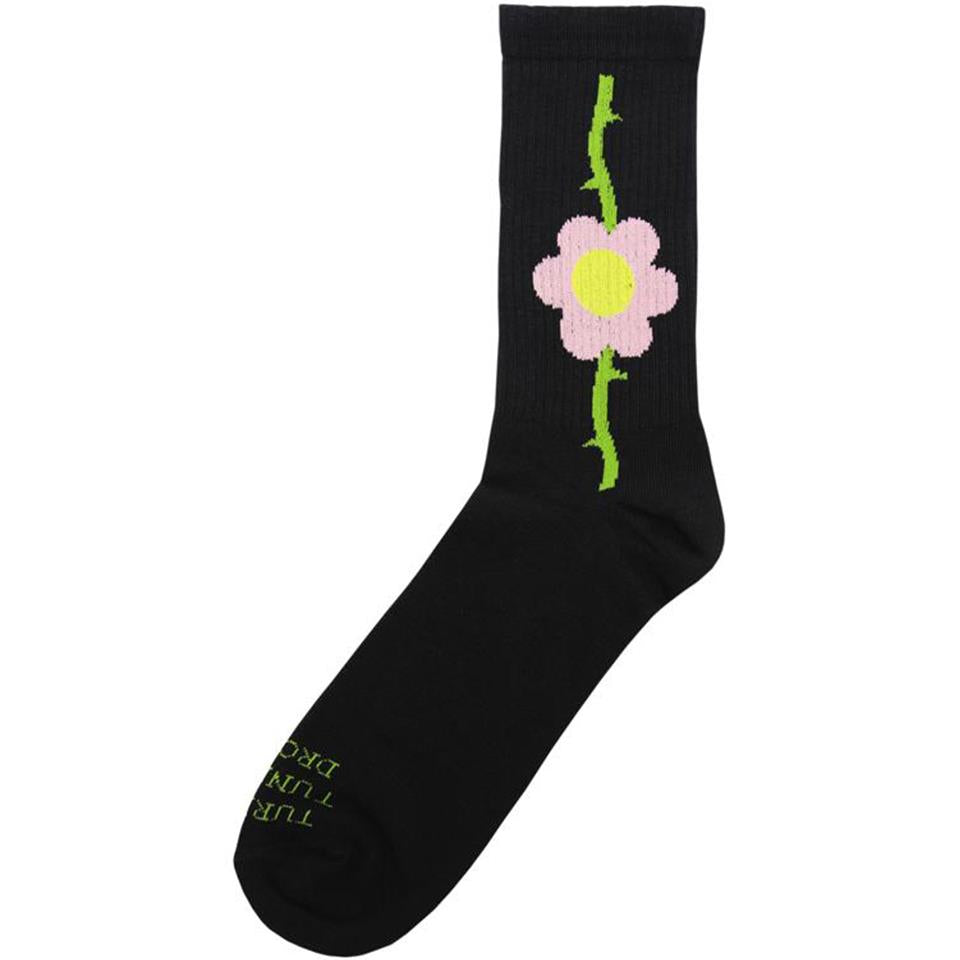 Cult Bloomed Socks - Black
