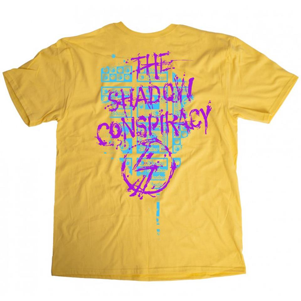 Shadow Back Against the Wall T-Shirt - Lemon Zest