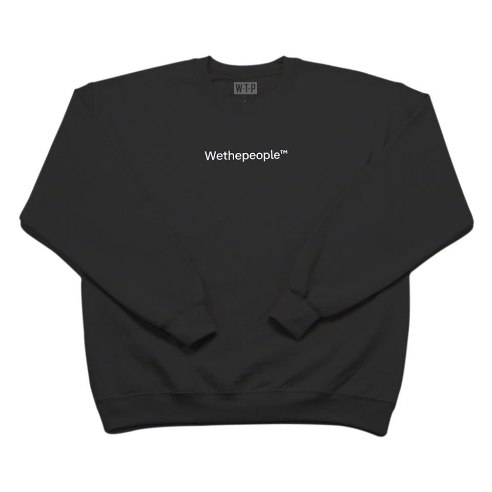 Wethepeople Embroidery Crew Neck Sweatshirt - Black