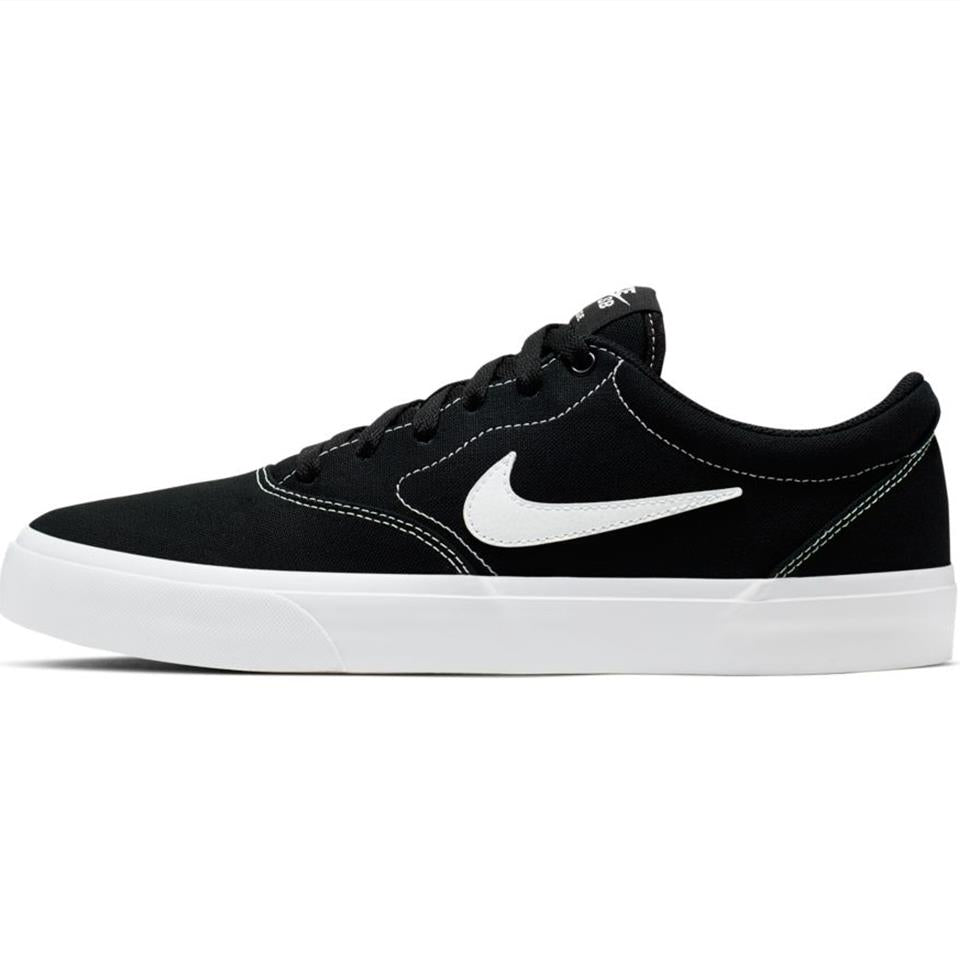 Nike SB Charge Canvas Skate Shoe - Black/White/Gum